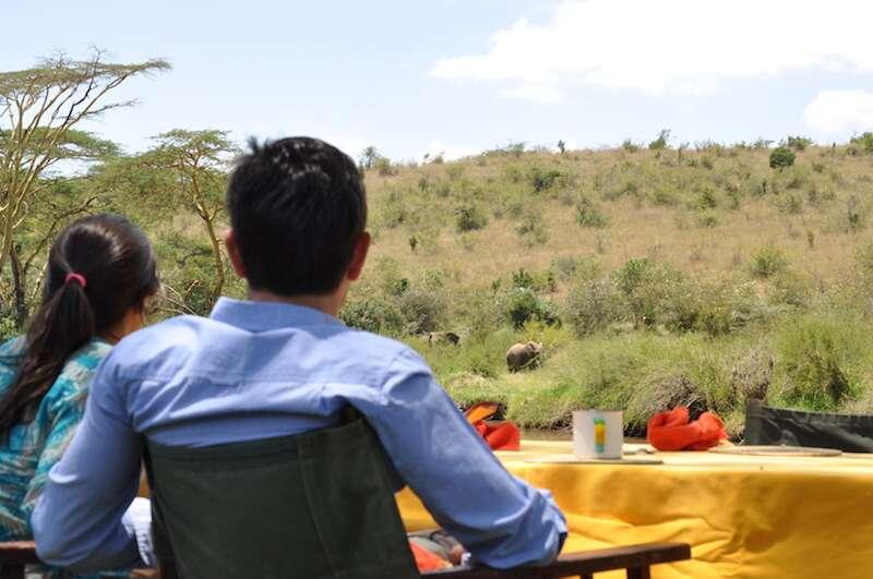 Almoço Sosian vendo elefantes 1