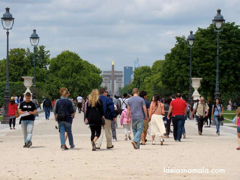 Arco do Triunfo visto de longe