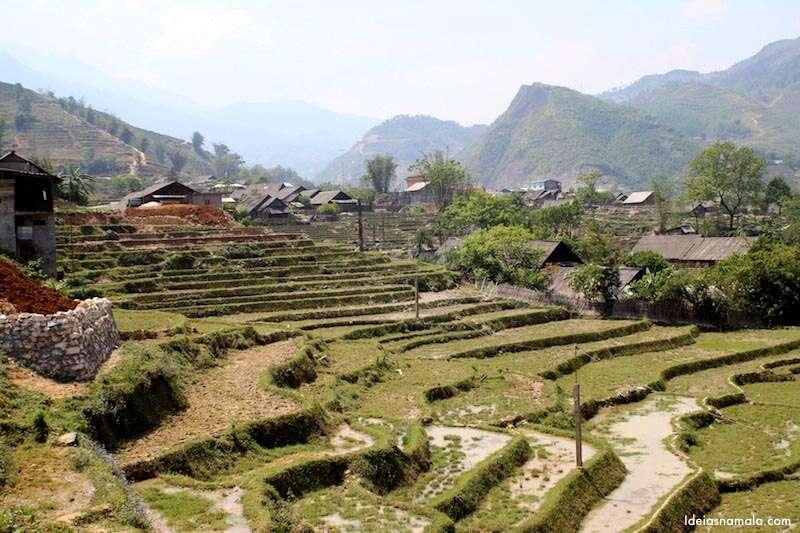 Sapa - um vilarejo famoso pelas plantações de arroz