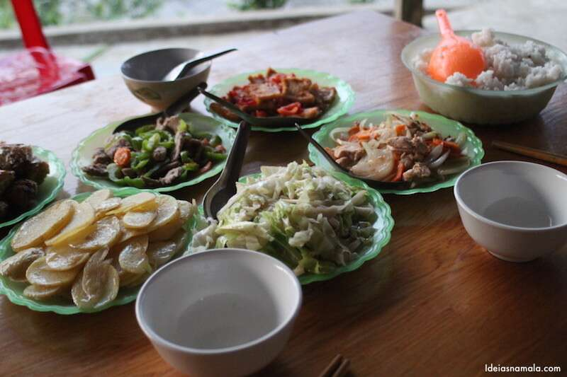 Jantar da casa de família: uma variedade imensa.