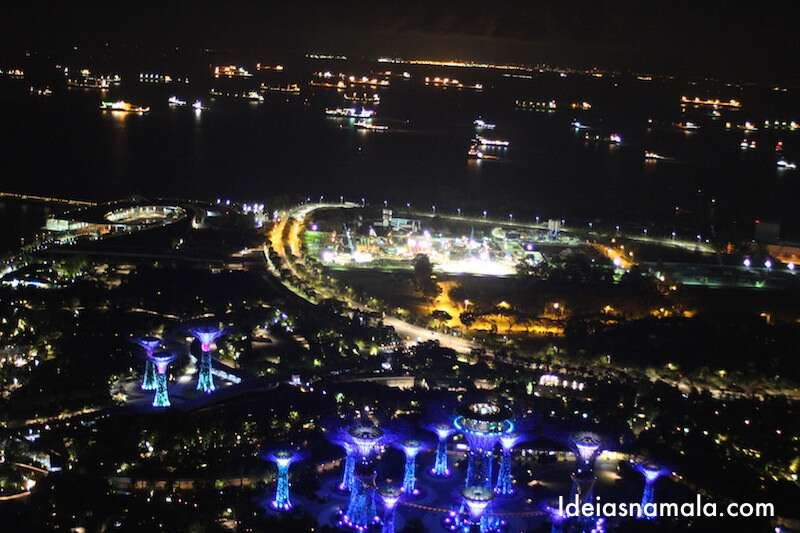 Cingapura vista do alto do Marina Bay Sands