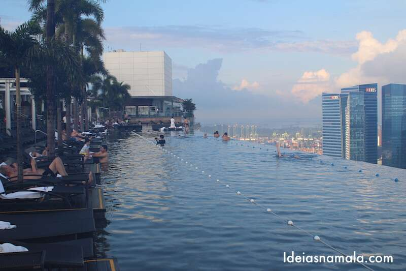 Piscina do Marina Bay Sands - Cingapura