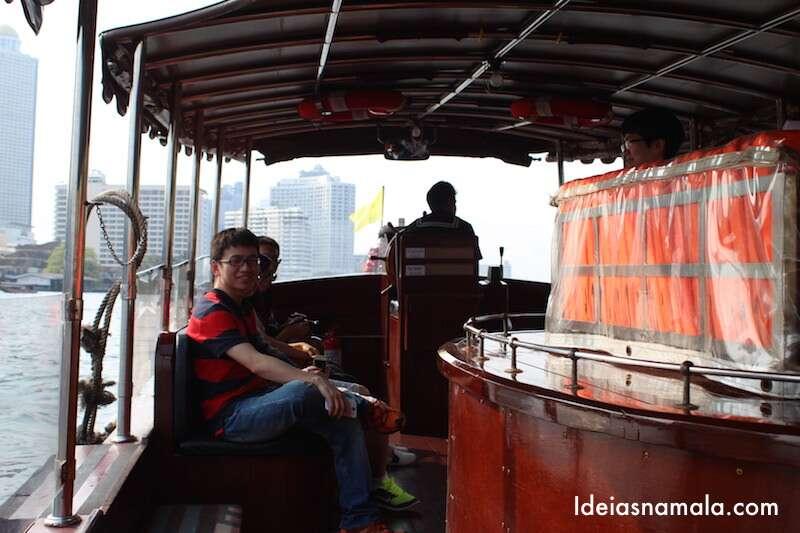 Shutle barco do Hilton de Bangkok