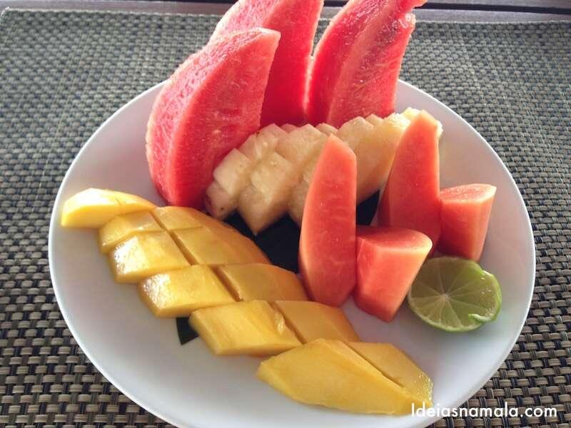 Prato de frutas do Hilton Bangkok