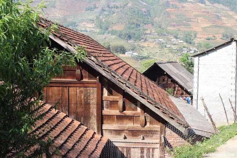 Casas dos locais em Sapa