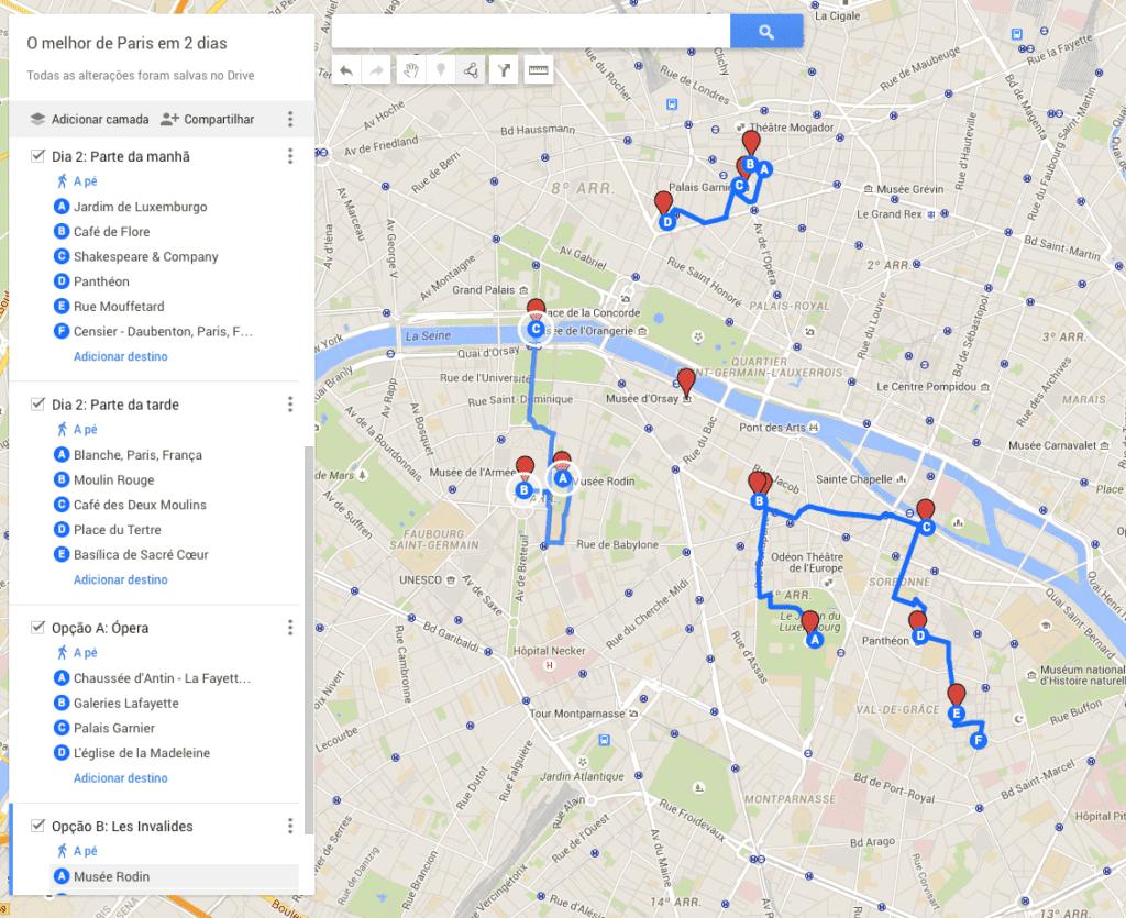 Mapa dia 2 - Paris