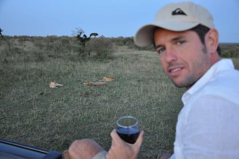 Vinhos tarde Mara com leoes