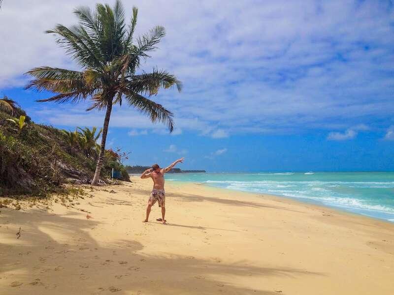 Jesse na Praia do Espelho
