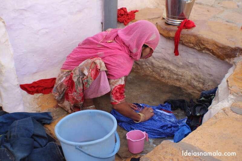 Lavando roupas