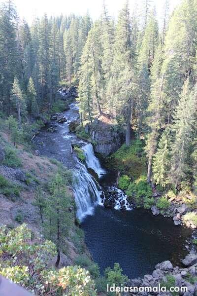 Cachoeira McCloud, umas das cachoeiras do Mt. Shasta
