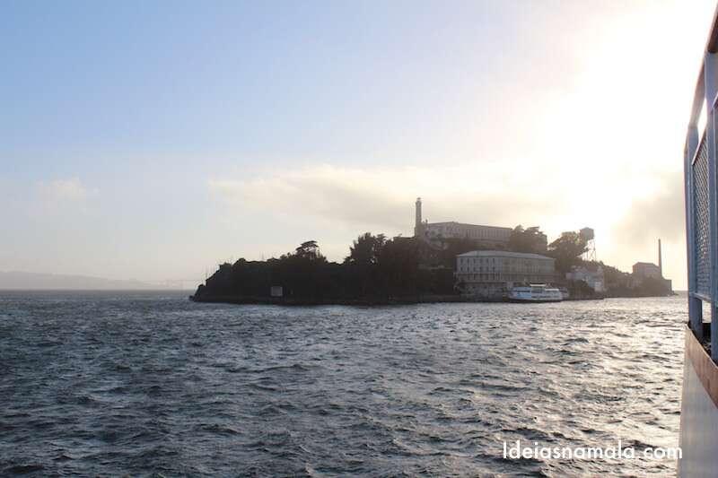 Alcatraz vista do barco