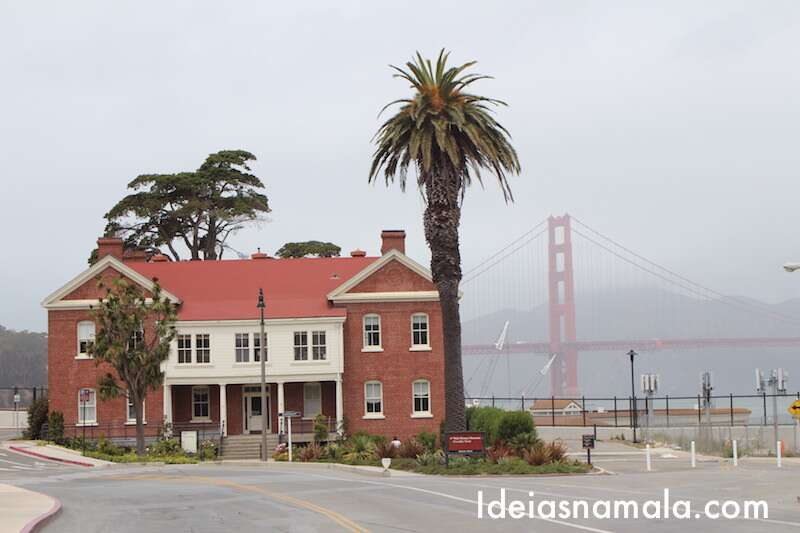 Golden Gate vista do Presidio