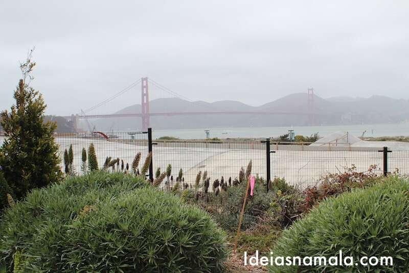 Ponte Golden Gate vista do parque Presídio