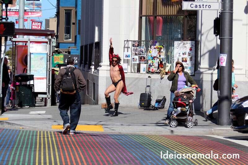 Dançarino arrasando no Castro