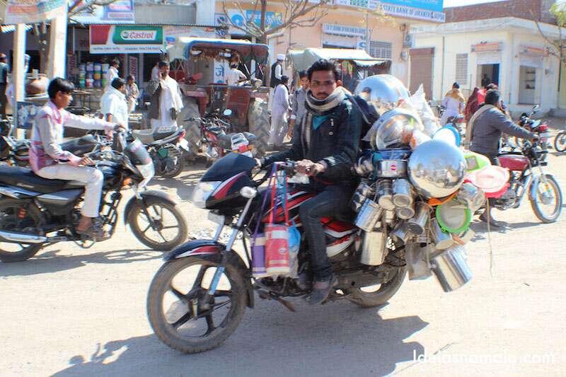 Moto-loja na Índia