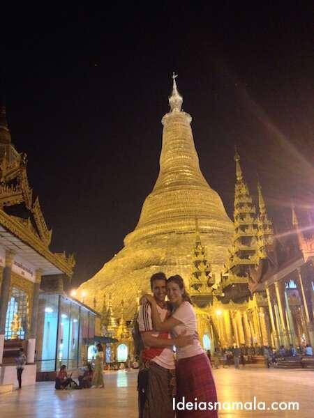 Pagoda dourada em Yagon