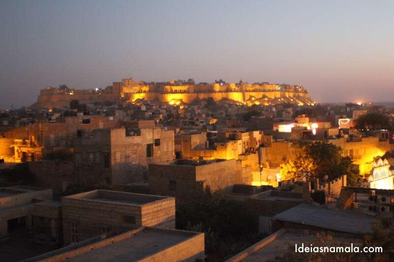 Pôr do sol em Jaisalmer