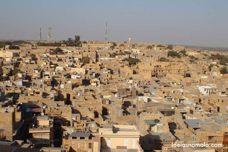 Jaisalmer vista do alto do forte