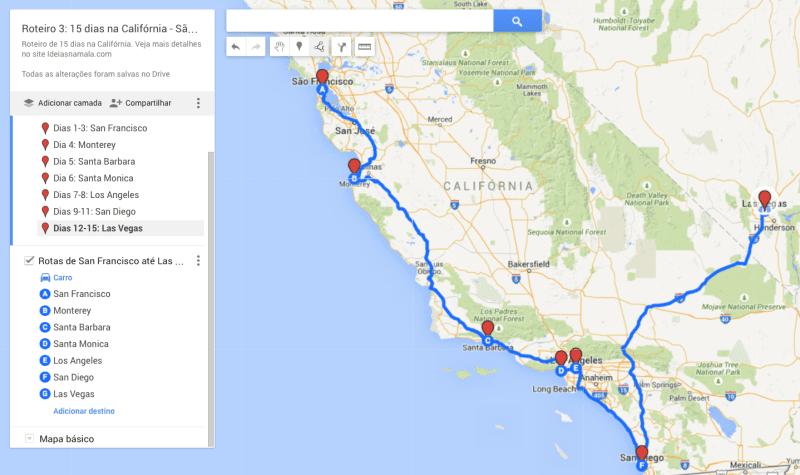 Roteiro 3: 15 dias na Califórnia