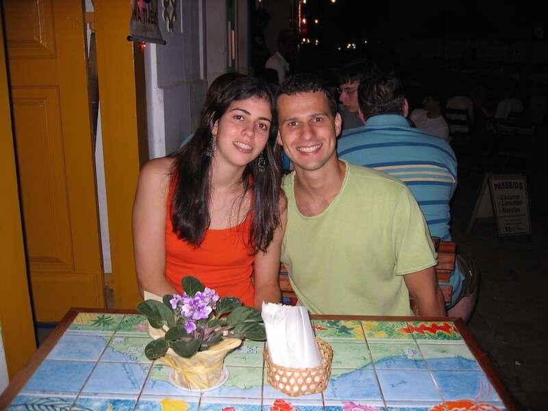 Gu e eu numa das nossa primeiras viagens juntos: Paraty