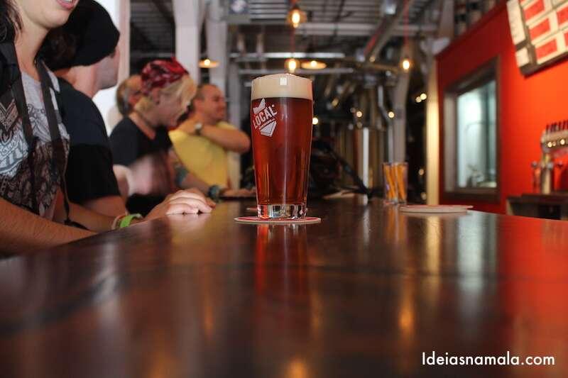 Cerveja deliciosa da Local Brewery Foto: Mila Frohlich