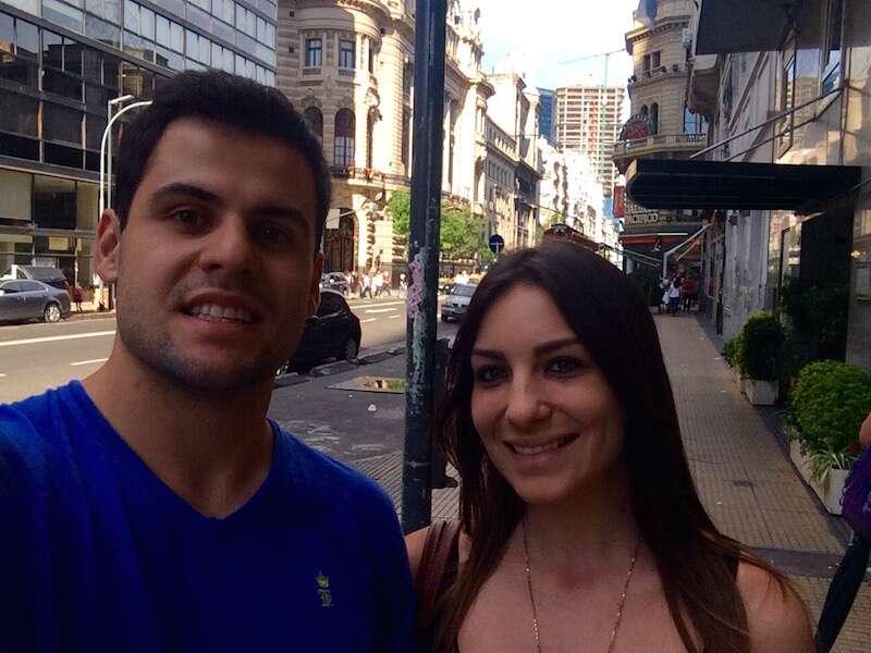 Amanda e Luis em Buenos Aires