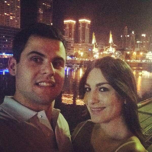Amanda e Luis comemorando a chegada do ano novo em Buenos Aires