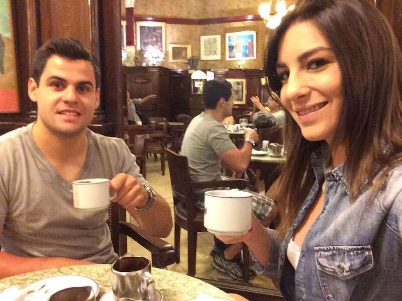 Chocolate quente do Café Tortoni