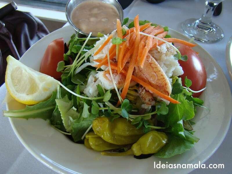 Salada de carangueijo