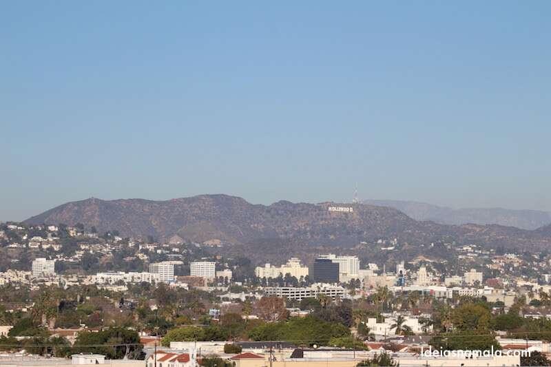 Los Angeles e placa de Hollywood