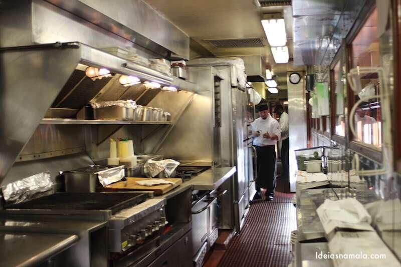 Cozinha do trem