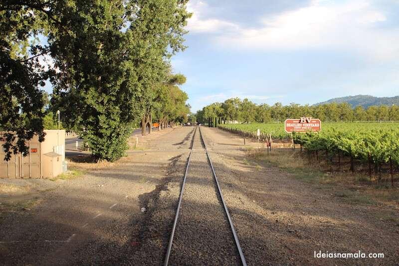 Uma das varandas do trem