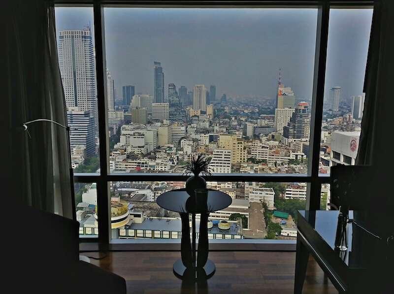 Bangkok vista do alto do nosso hotel