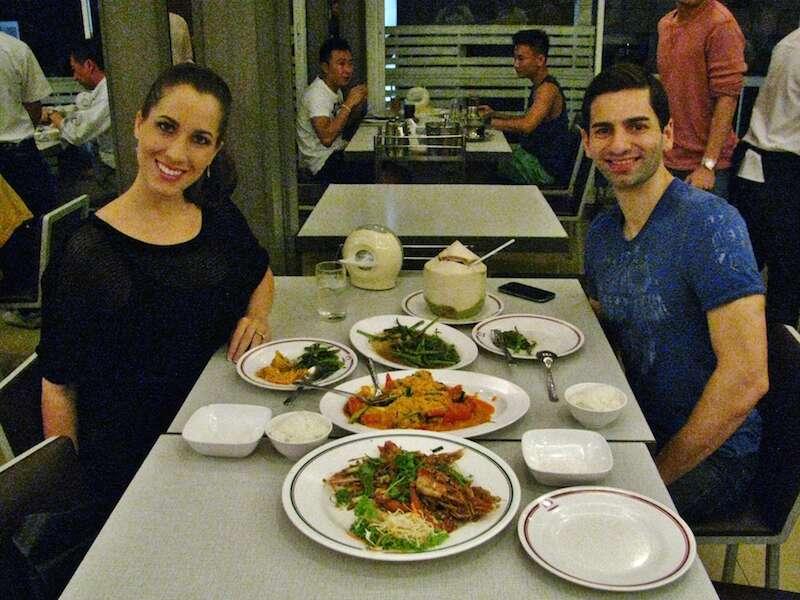 Restaurante do primeiro dia: um lugar simples com comida ótima!