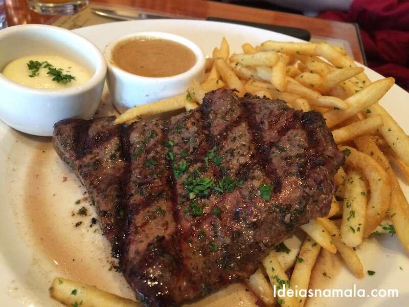 Bife com batata fritas - perfeito!