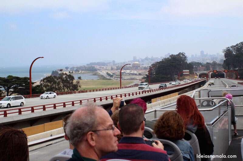 San Francisco vista do ônibus de turismo
