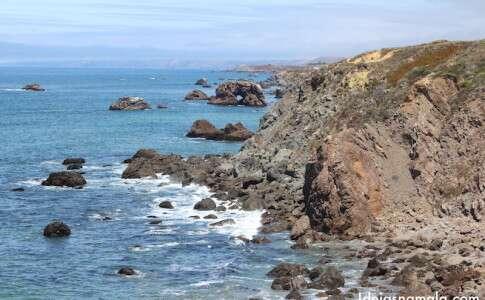 Paisagens da costa de Sonoma