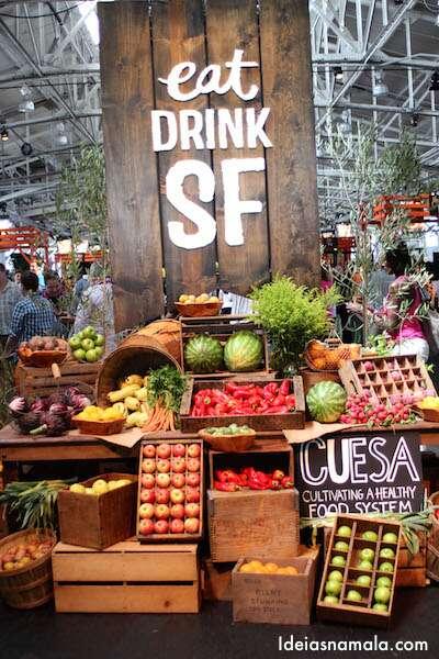 Frutas na entrada do Eat Drink SF