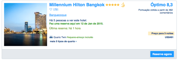 Hilton Millenium -Booking