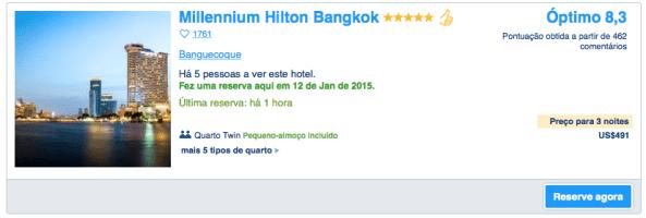 Hilton Millenium -Booking