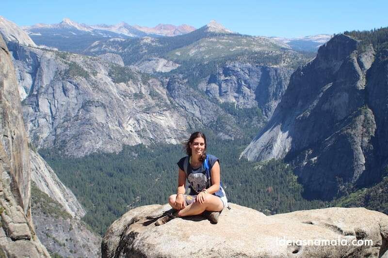 Vista topo da Yosemite Falls