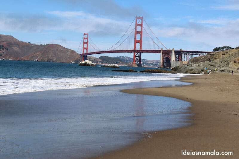 Golden Gate vista da Baker Beach em San Francisco