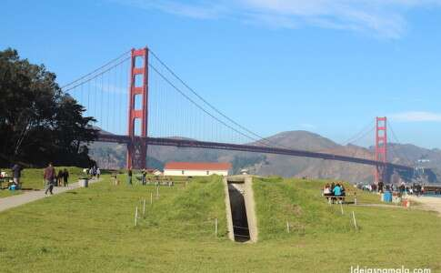 Golden Gate Bridge vista do Crissy Field