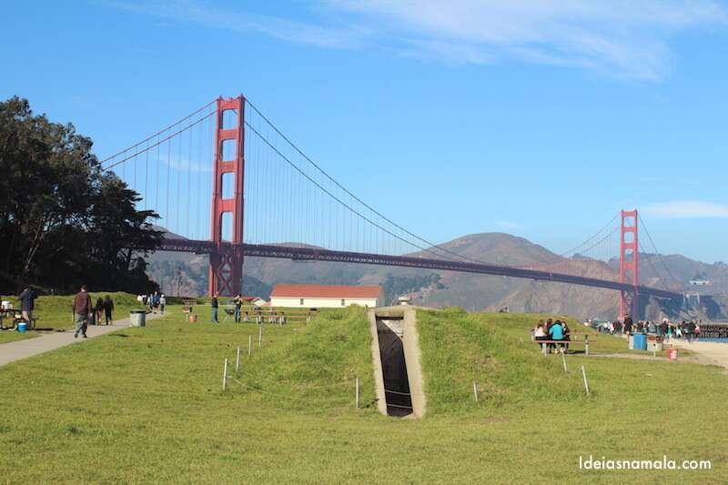 Golden Gate Bridge vista do Crissy Field
