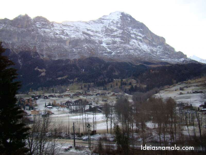 Região de Grindelwald vista do trem