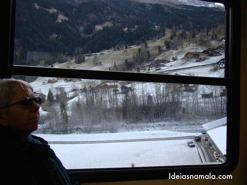 Vista da Janela do trem - Jungfrau