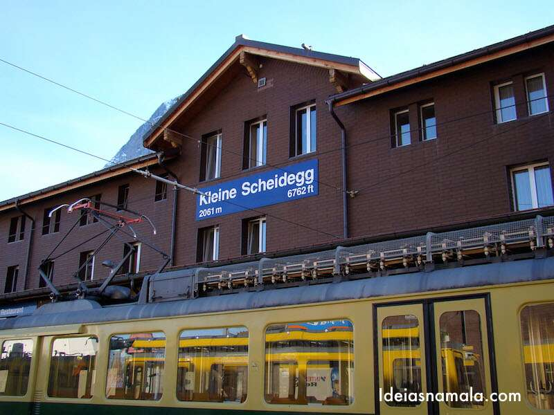 Estação de Kleine Scheidegg - Suíça