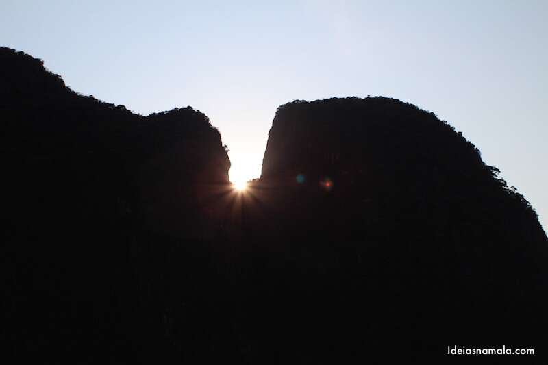 Pôr do sol em Maya Bay - Tailândia