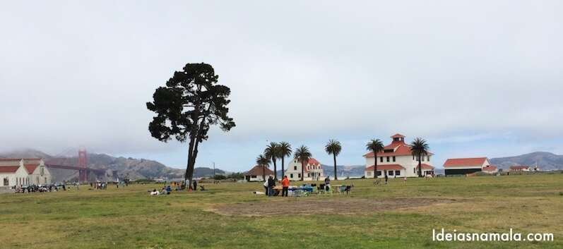 área de picnic do Crissy Field