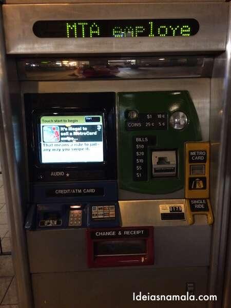 Máquina Metrô - Nova York